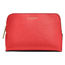 Buy Coach Saffiano Leather Cosmetic Case Online at johnlewis.com