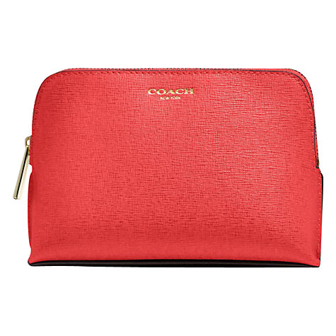 Buy Coach Saffiano Leather Cosmetic Case, Red Online at johnlewis.com