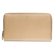 Buy Coach Saffiano Leather Continental Zip Wallet, Tan Online at johnlewis.com