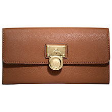 Buy MICHAEL Michael Kors Hamilton Leather Flap Purse Online at johnlewis.com