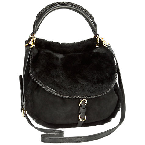 Buy UGG Quinn Flapover Sheepskin Suede Hobo Handbag Online at johnlewis.com