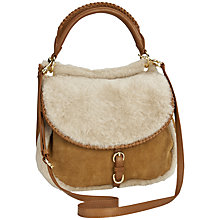 Buy UGG Quinn Flapover Sheepskin Suede Hobo Bag Online at johnlewis.com