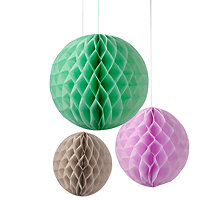 Buy Talking Tables Macaroon Honeycomb Balls, Pack of 3 Online at johnlewis.com