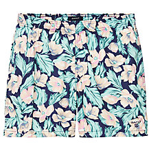 Buy Gant Flower Print Swim Shorts, Blue/Orange Online at johnlewis.com