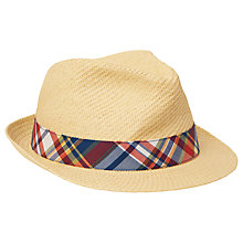 Buy Gant Madras Straw Trilby Hat Online at johnlewis.com