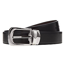Buy Montblanc Reversible Leather Belt With Palladium Horseshoe Buckle, One Size, Black/Brown Online at johnlewis.com