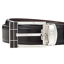 Buy Montblanc Reversible Leather Belt With Rectangular Buckle, Black/Brown Online at johnlewis.com
