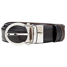 Buy Montblanc Palladium Revolving Oval Buckle Leather Belt, Black/Brown Online at johnlewis.com