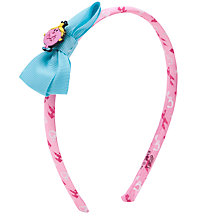Buy John Lewis Girl Little Miss Princess Alice Band, Pink Online at johnlewis.com