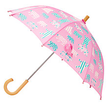 Buy Hatley Children's Patterned Bear Umbrella, Pink Online at johnlewis.com