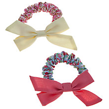 Buy John Lewis Bow Hair Scrunchies, Pack of 2, Multi Online at johnlewis.com