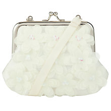 Buy John Lewis Girl Laser Cut Flower Bag, Cream Online at johnlewis.com