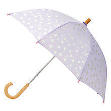 Buy Hatley Children's Scattered Stars Umbrella, Lilac Online at johnlewis.com