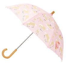 Buy Hatley Horse Play Umbrella, Pink Online at johnlewis.com