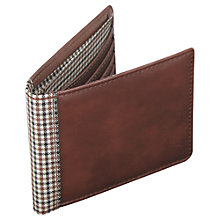 Buy Jacob Jones Check Wallet, Brown Online at johnlewis.com