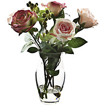 Buy Peony Roses and Yoshino Berries In Vase, Pink, Small Online at johnlewis.com