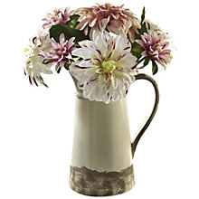 Buy Peony Mixed Dahlias In Ceramic Jug, Multi, Large Online at johnlewis.com