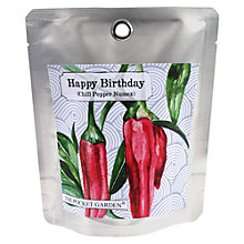 Buy Happy Birthday Chillies Grow Pouch Online at johnlewis.com