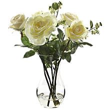 Buy Peony Rose and Snowberries In Vase, White, Large Online at johnlewis.com