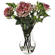 Buy Peony Roses and Yoshino Berries In Vase, Pink, Large Online at johnlewis.com