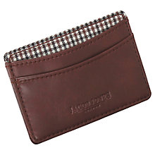 Buy Jacob Jones Check Card Holder, Brown Online at johnlewis.com