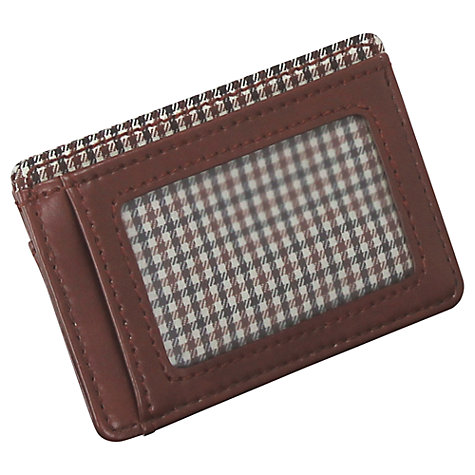 Buy Jacob Jones by LC Designs Check Card Holder, Brown Online at johnlewis.com