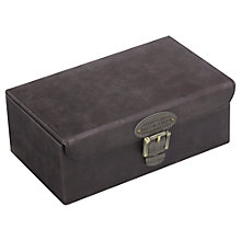Buy Smith & Canova Watch and Cufflink Box, Khaki Online at johnlewis.com
