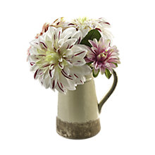 Buy Peony Mixed Dahlias In Ceramic Jug, Multi, Small Online at johnlewis.com