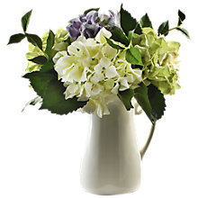 Buy Peony Hydrangeas In Ceramic Jug, Multi, Large Online at johnlewis.com