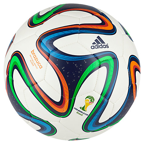 Buy Adidas Brazuca World Cup 2014 Glider Football, Size 5 Online at johnlewis.com