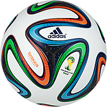 Buy Adidas Brazuka Official World Cup 2014 Match Ball, Size 5 Online at johnlewis.com