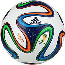 Buy Adidas Brazuca Mini World Cup 2014 Football, Size 1 Online at johnlewis.com