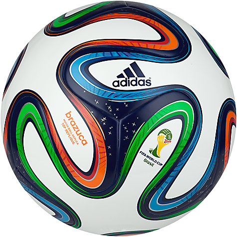 Buy Adidas Brazuca Top Replique World Cup 2014 Football, Size 5 Online at johnlewis.com