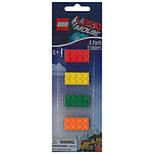 Buy The LEGO Movie Erasers, Pack of 4 Online at johnlewis.com