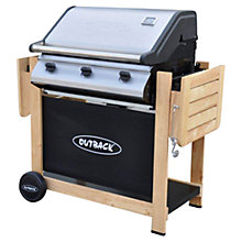 Buy Outback Hunter Select 3 Burner Wood Trolley Gas Barbecue Online at johnlewis.com