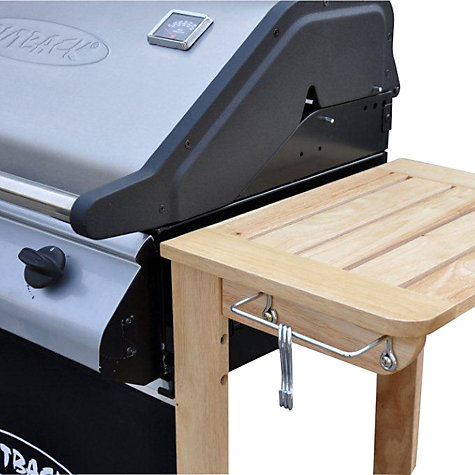 Buy Outback Hunter Select 3-Burner Wood Trolley Gas Barbecue Online at johnlewis.com