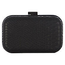 Buy Warehouse Hard Mini Wrist Clutch Handbag, Black Online at johnlewis.com