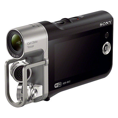 "Buy Sony HDR-MV1 HD 1080p Music Video Camcorder, 8.4MP, NFC, Wi-Fi, Stereo Microphones, 2.7"" LCD Online at johnlewis.com"