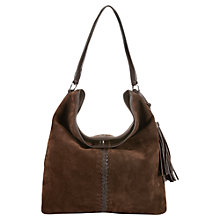 Buy Jigsaw Quebec Leather Hobo Bag, Brown Online at johnlewis.com