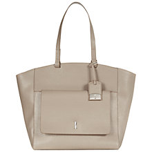 Buy Hobbs Downham Leather Tote Bag, Fawn Online at johnlewis.com