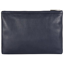 Buy Hobbs Teddie Leather Pouch Purse, Navy Online at johnlewis.com