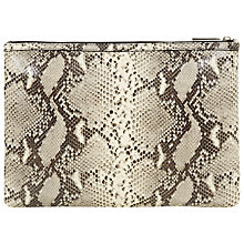 Buy Hobbs Leather Teddie Clutch Handbag, Snake Online at johnlewis.com