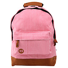 Buy Mi-Pac Mini Candy Stripe Backpack, Red/White Online at johnlewis.com