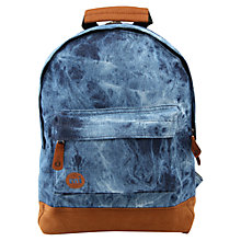 Buy Mi-Pac Mini Denim Dye Backpack, Blue Online at johnlewis.com