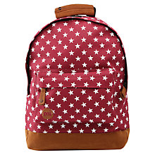Buy Mi-Pac All Stars Rucksack, Burgundy Online at johnlewis.com