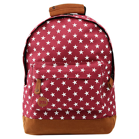 Buy Mi-Pac Mini All Stars Backpack, Burgundy Online at johnlewis.com