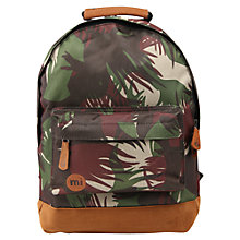 Buy Mi-Pac Mini Camouflage Backpack, Green Online at johnlewis.com