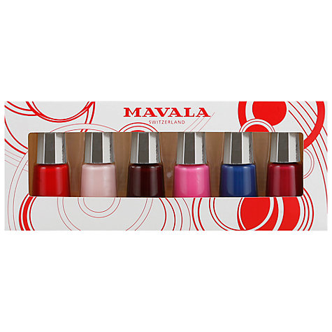 Buy MAVALA Special Buy Nail Colours, Pack of 6 x 5ml Online at johnlewis.com