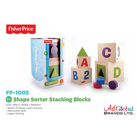 Buy Fisher-Price Shape Sorter Stacking Blocks Online at johnlewis.com