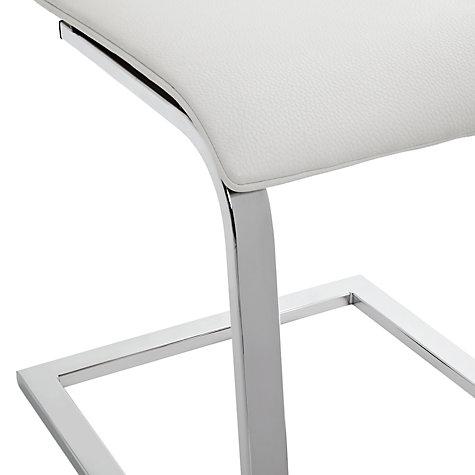 Buy John Lewis Odyssey Cantilever Dining Chair, Oak/Leather Online at johnlewis.com